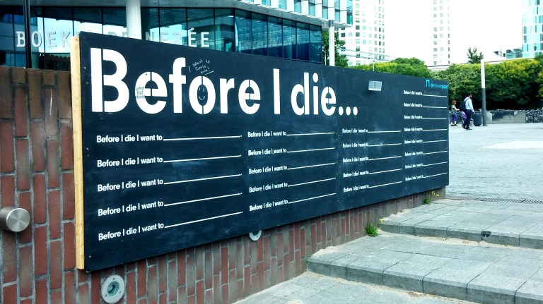 Before I die in Amsterdam