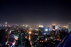 Bangkok: Sky Bar, night panorama view