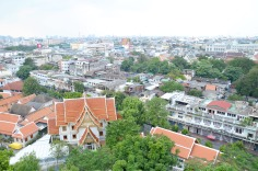 Bangkok: Wat Saket and the Golden Mount - view