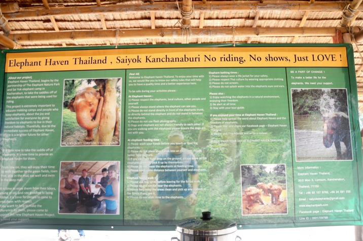 Kanchanburi: Elephant Nature Park - rules