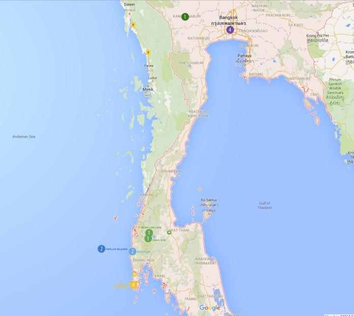 trip map thailand