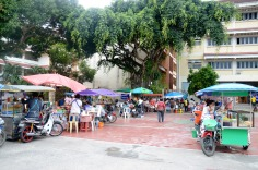 Phuket Town - food court in front of school - before