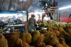 Phuket Town - market - durian