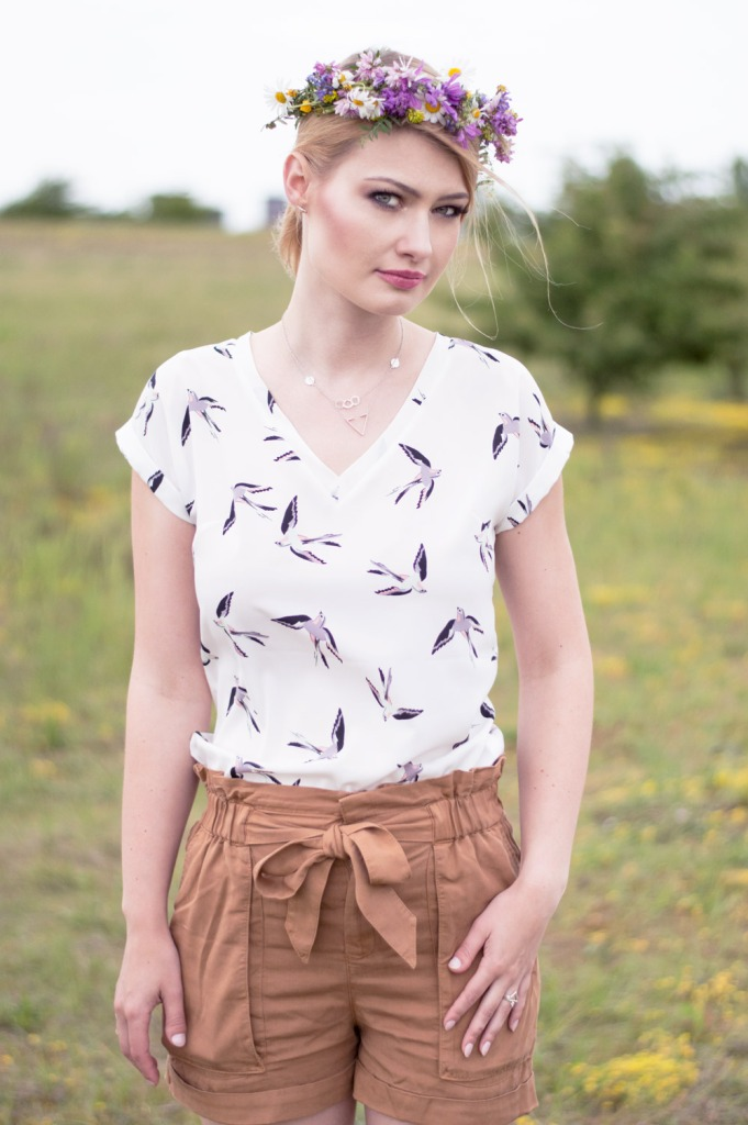 White blouse with swallow (5)